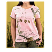 Code V  Ladies Officially Licensed REALTREE®  Camouflage Short Sleeve T-Shirt