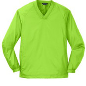 Sport-Tek V-Neck Raglan Wind Shirt