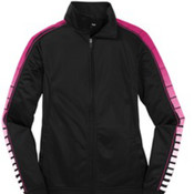 Sport-Tek Ladies Dot Sublimation Tricot Track Jacket