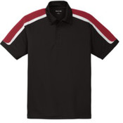 Sport-Tek Tricolor Shoulder Micropique Sport-Wick Polo