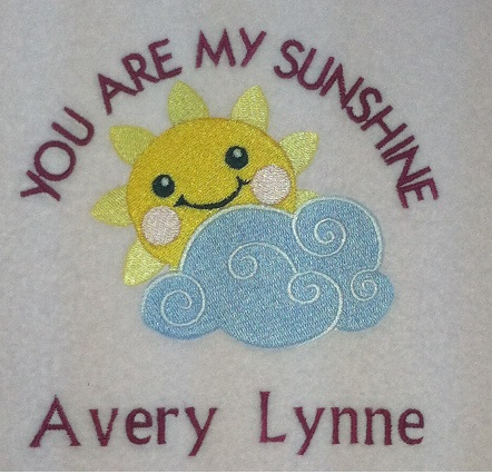 Baby Blanket You Are My Sunshine